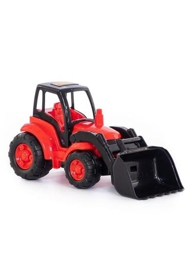 Polesie Polesie 0476 Şampiyon Kovalı Oyuncak Traktör Yükleyici Kırmızı Renkli